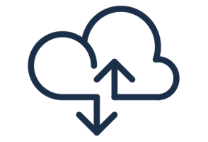 icon - Cloud with up/down arrows