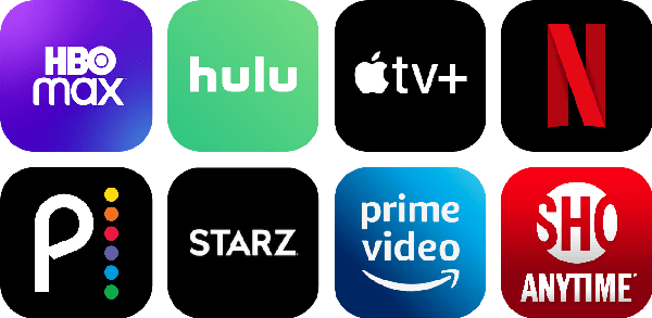tv streaming services logos